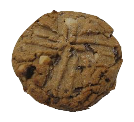 Aberration is a peanut butter cookies with chocolate chips and macadamias.