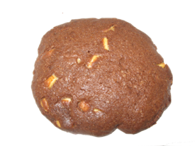 Black Death is a chocolate almond-flavored cookie with white chocolate.