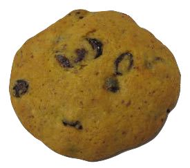 Inflamed With Rage is a pumpkin almond meal cookie with dried cranberries.
